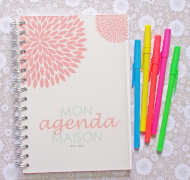 Mon organisation dans mon agenda maison