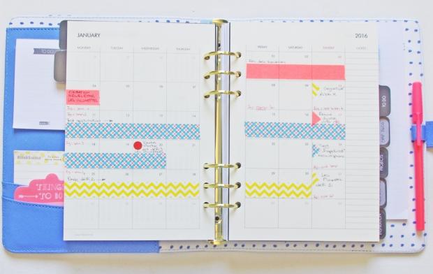 Monthly layout planner kikki k